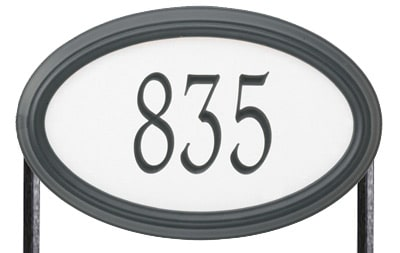 Whitehall Concord Oval Standard Size Safety 911 Reflective Oval Lawn Address Plaques Product Image