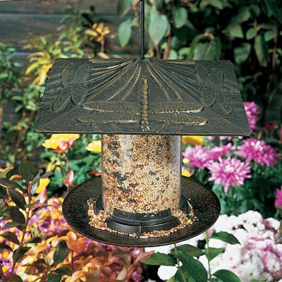 Whitehall Dragonfly Tube Bird Feeder Product Image