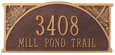 Whitehall Dragonfly Address Plaque Product Image