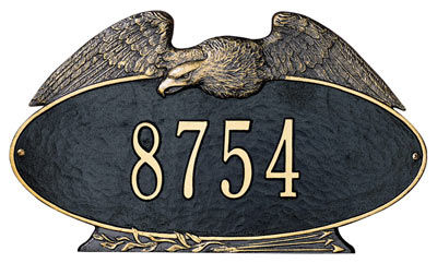 Whitehall Eagle Oval Address Plaque Product Image