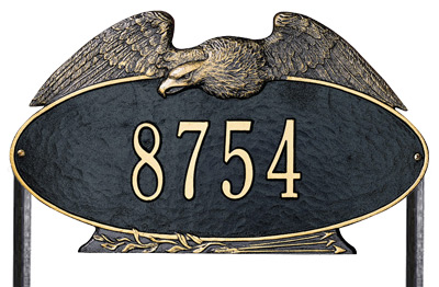 Whitehall Eagle Oval Lawn Marker Address Plaque Product Image
