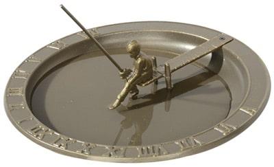 Whitehall Fisherboy Sundial Birdbath Product Image