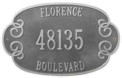 Whitehall Florence Address Plaque Product Image