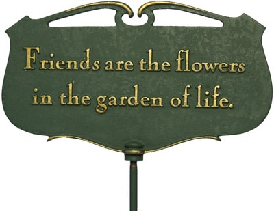 Whitehall Friends Are The Flowers Poem Sign Product Image