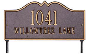 Whitehall Hillsboro Rectangle Lawn Marker Address Plaque Product Image