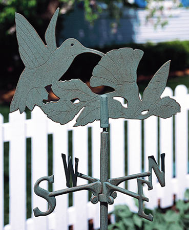 Whitehall Hummingbird Garden Weathervane Product Image