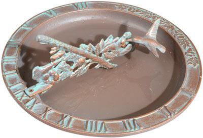 Whitehall Hummingbird Sundial Birdbath Product Image