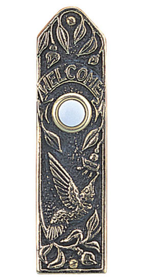 Whitehall Hummingbird Narrow Solid Brass Door Bell Product Image