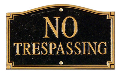 Whitehall No Trespassing Statement Plaque Product Image