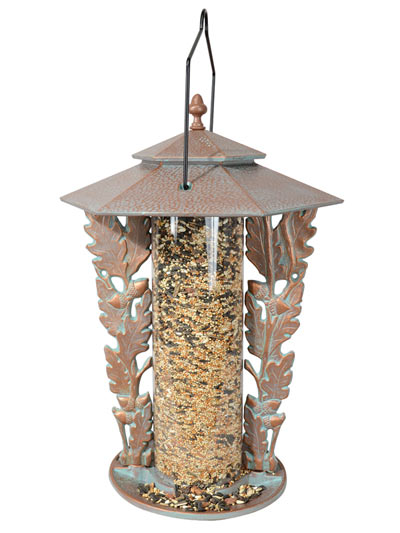 Whitehall Oakleaf Silhouette Bird Feeder