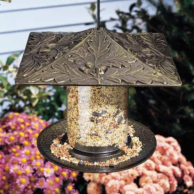 Whitehall Oakleaf Tube Bird Feeder Product Image