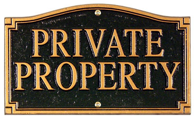 Whitehall Private Property Statement Plaque Product Image