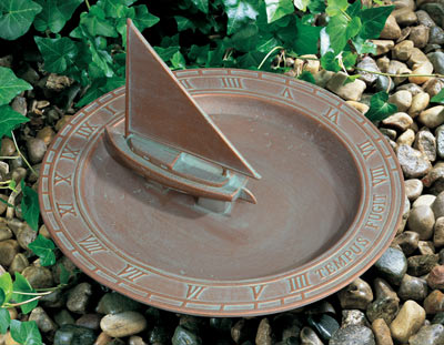 Whitehall Sailboat Sundial Birdbath Product Image