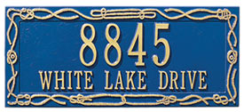 Whitehall Sailor's Knot Rectangle Address Plaque Product Image