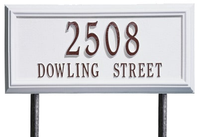 Whitehall Springfield Rectangle Lawn Marker Address Plaque Product Image