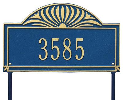 Whitehall Sunburst Arch Rectangle Lawn Address Plaque Product Image