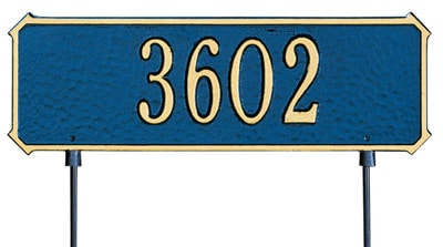 Whitehall 2 Sided Rectangle Lawn Marker Address Plaque Product Image