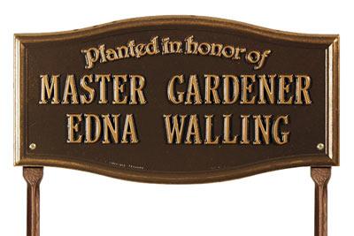 Vicksburg Planted Honor Memorial Lawn Plaque