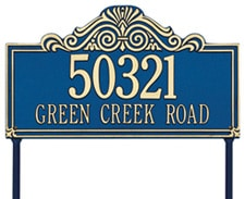 Whitehall Villa Nova Rectangle Lawn Marker Address Plaque Product Image