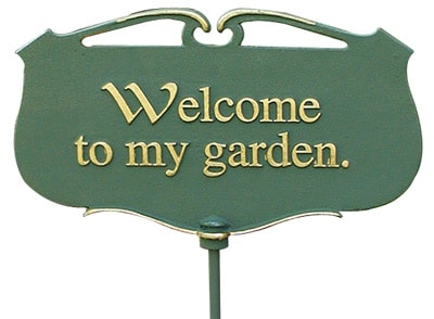 Whitehall Welcome To My Garden Poem Sign Product Image