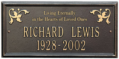 Whitehall Wilmington Living Eternally Memorial Plaque Product Image