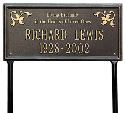 Whitehall Wilmington Living Eternally Memorial Lawn Plaque Product Image