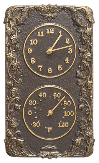 Whitehall Acanthus Clock And Thermometer Product Image