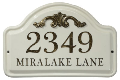 Whitehall Acanthus Ceramic Address Plaque Product Image