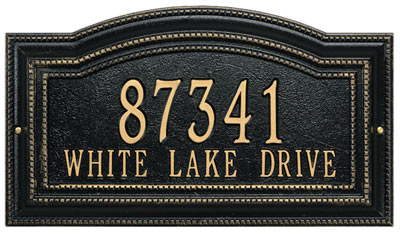Whitehall Arbor Address Plaque Product Image