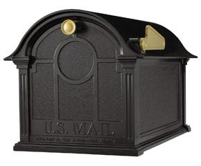 Whitehall Balmoral Post Mount Mailbox Black
