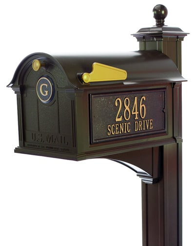Whitehall Balmoral Monogram Mailbox Streetside Package Product Image