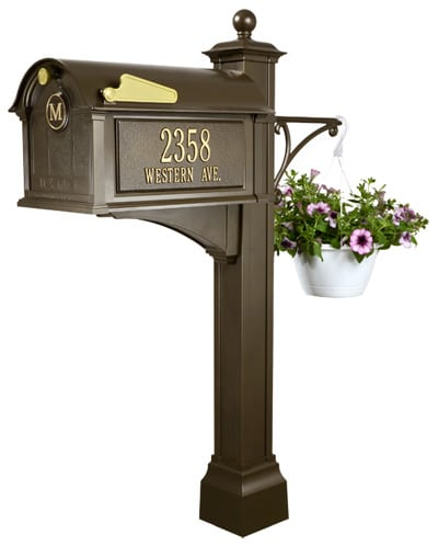 Whitehall Balmoral Monogram Mailbox Deluxe Package Product Image
