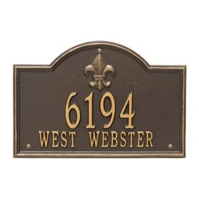 Whitehall Bayou Vista Plaque Bronze Gold