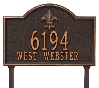 Whitehall Bayou Vista Lawn Marker Address Plaque Product Image