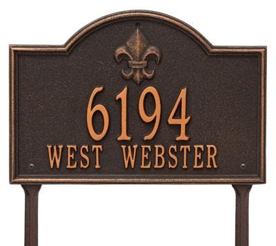 Whitehall Bayou Vista Lawn Marker Address Plaque Product Image