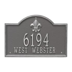 Whitehall Bayou Vista Plaque Pewter Silver