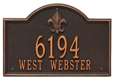 Whitehall Bayou Vista Address Plaque Product Image