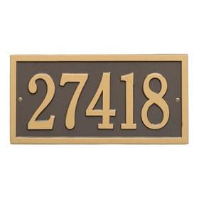 Whitehall Bismark Address Plaque Bronze Gold