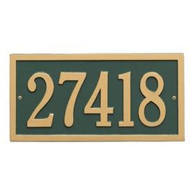 Whitehall Bismark Address Plaque Green Gold