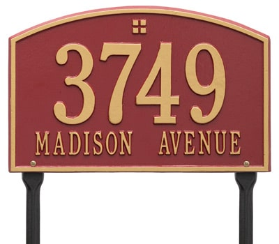 Whitehall Cape Charles Rectangle Lawn Marker Address Plaque Product Image