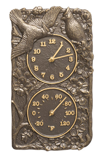 Whitehall Cardinal Clock And Thermometer Product Image