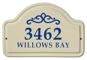 Whitehall Classic Scroll Arch Plaque Blue