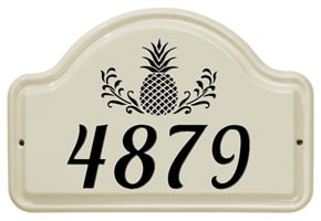 Whitehall Pineapple Arch Plaque Black