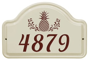 Whitehall Pineapple Arch Plaque Red