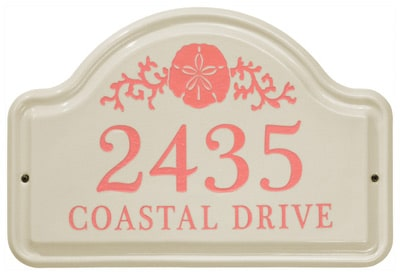Whitehall Sand Dollar Arch Ceramic Plaque