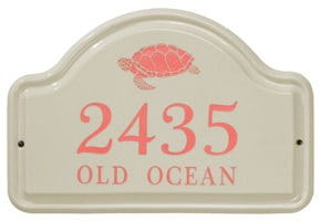 Whitehall Turtle Arch Plaque Coral