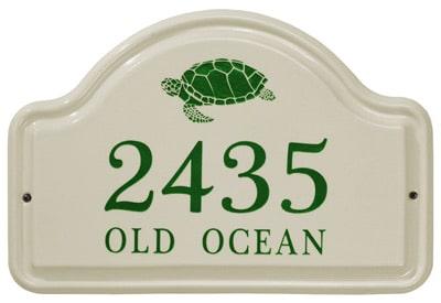 Whitehall Turtle Arch Ceramic Address Plaque