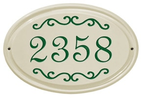 Whitehall Classic Scroll Oval Plaque Green