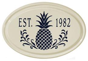 Whitehall Pineapple Petite Oval Plaque Black