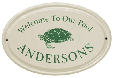Whitehall Turtle Oval Ceramic Plaque Product Image